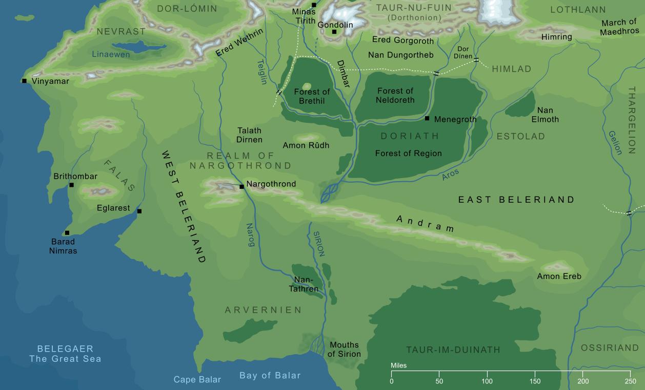 The Encyclopedia of Arda - Beleriand