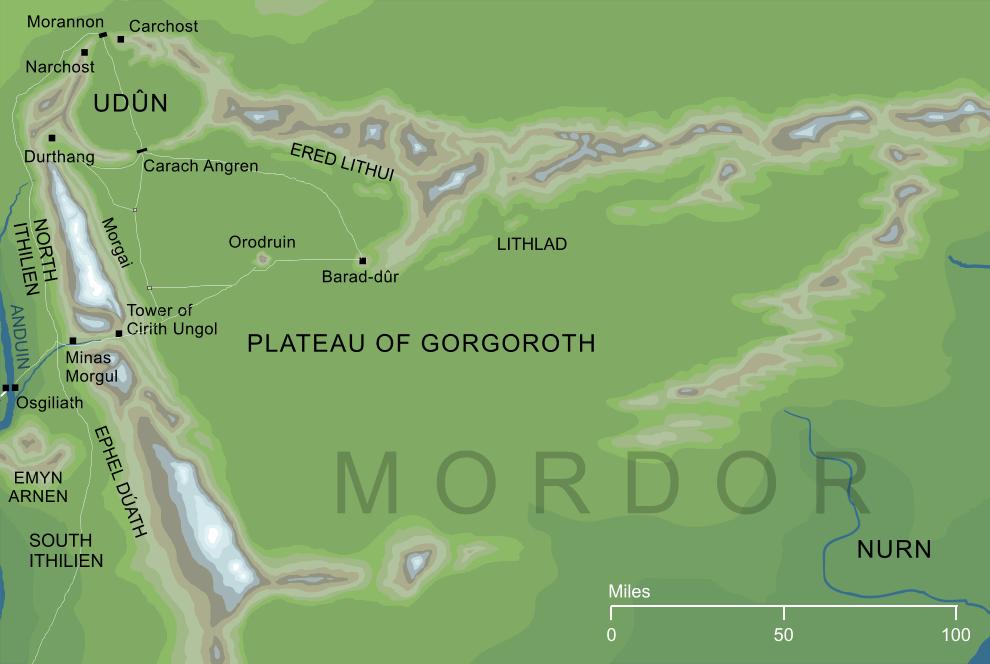 The Encyclopedia of Arda - Plateau of Gorgoroth